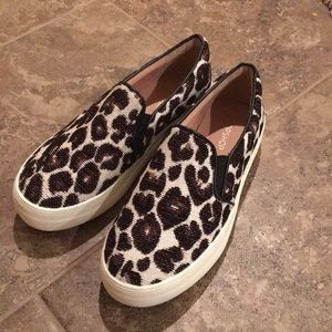 ISO topshop leopard slip on sneakers